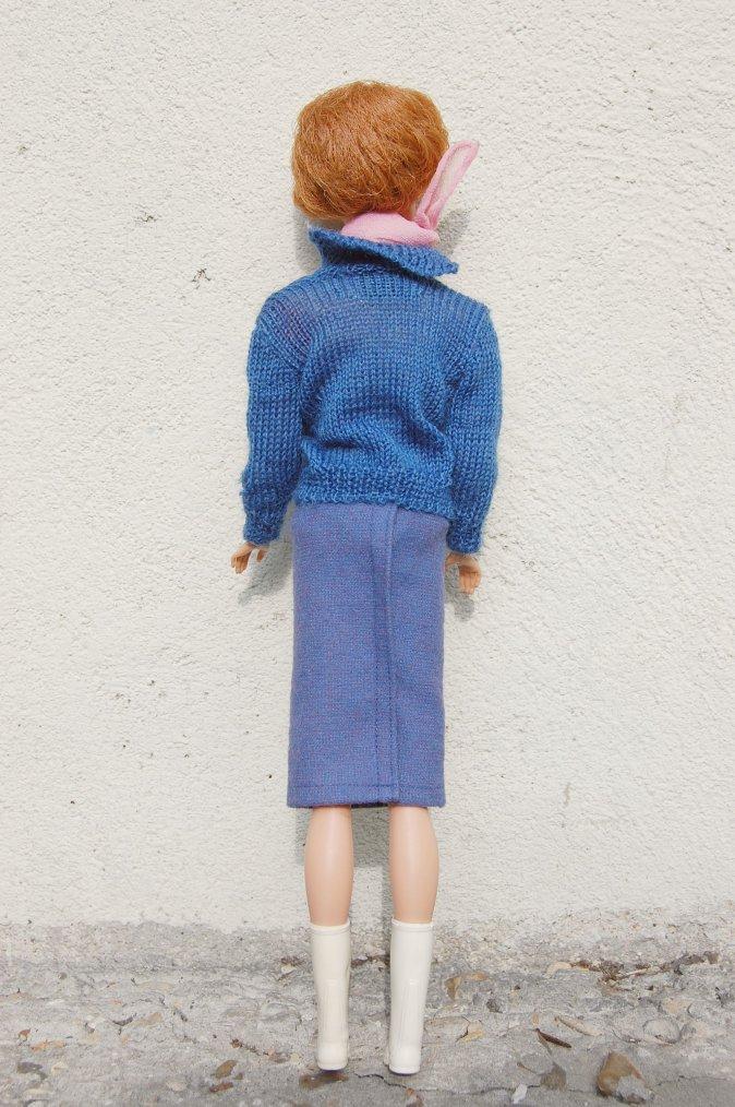 barbie bubble cut habillée de pied en cap