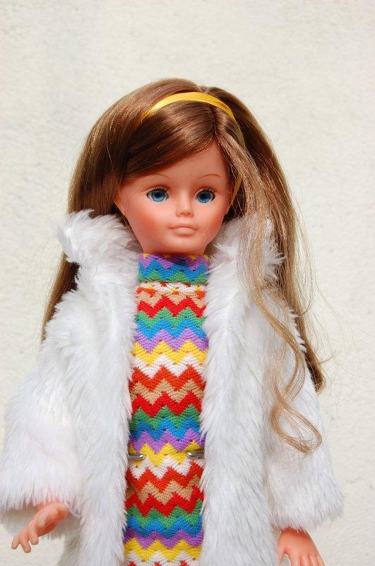 manteau zibeline 1980 pour cathie bella défilé