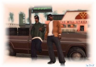 Easy-E et DMX dans GTA: san andreas.