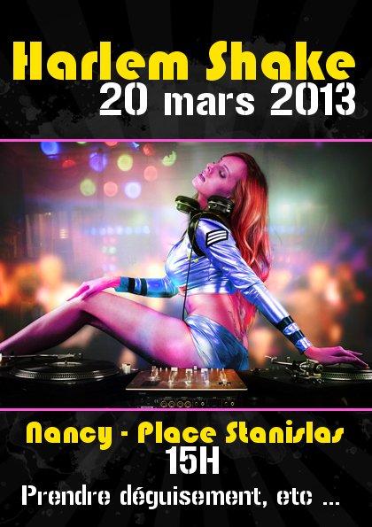 Harlem Shake à Nancy le 20 mars 2013 !