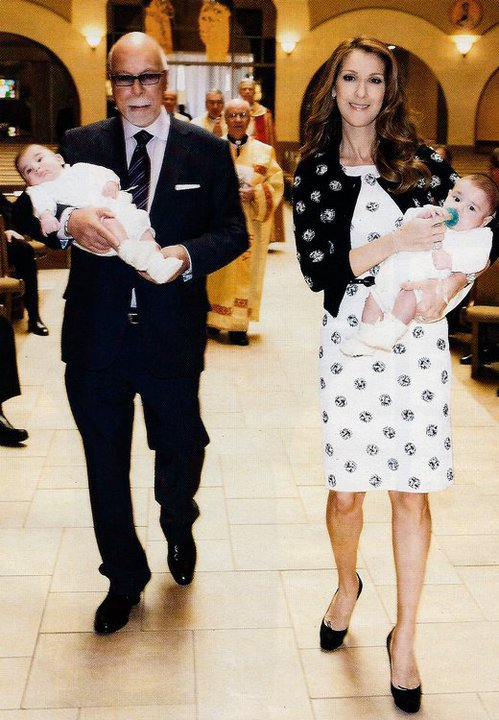 Le 5 mars 2011, Céline & René font baptiser les jumeaux...