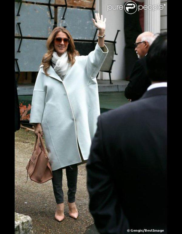 Céline Dion adopte le manteau XXL Jil Sander... - 27 novembre 2012