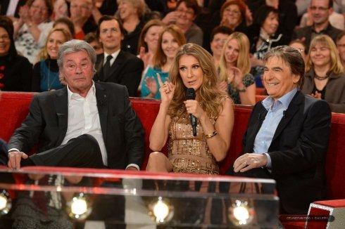 """Céline Dion : Enregistrement de """"Vivement Dimanche"""" - 27 novembre 2012"""