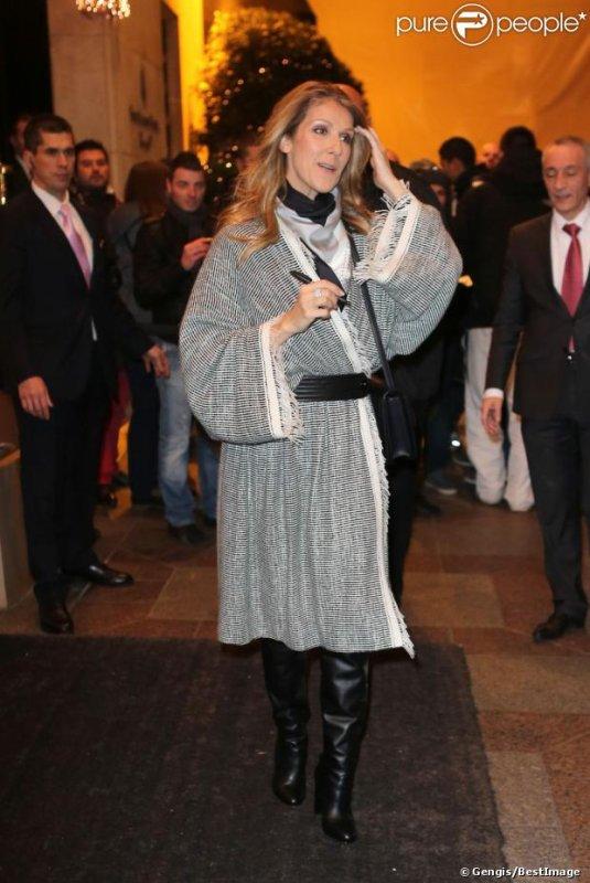 Céline Dion quitte son hôtel parisien le 30 novembre 2012