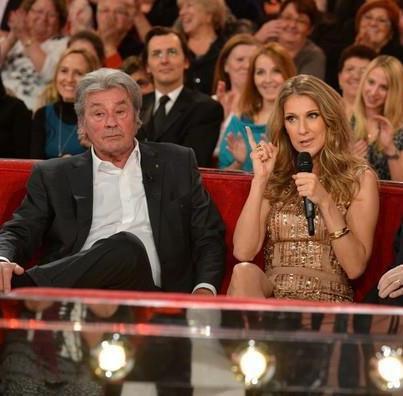 """Céline Dion dans """"Vivement Dimanche"""" diffusé le dimanche, 2 décembre 2012..."""