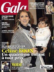 Céline Dion en une de Gala cette semaine