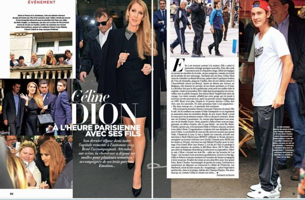 c line dion dans le magazine gala cette semaine un blog sur c line dion la plus talentueuse. Black Bedroom Furniture Sets. Home Design Ideas