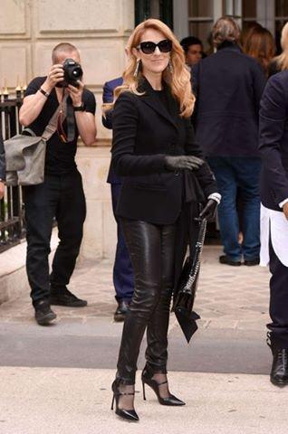 celine sunglasses paris 1yz5  C茅line Dion et Johnny Hallyday au d茅fil茅 Dior 脿 Paris
