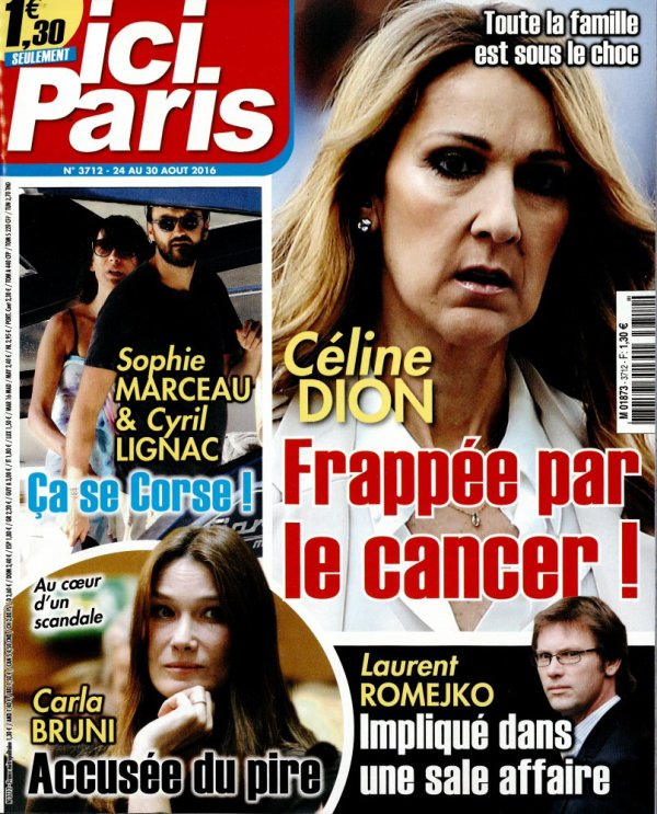 c line dion en couverture du magazine fran ais ici paris un blog sur c line dion la plus. Black Bedroom Furniture Sets. Home Design Ideas