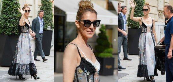 Quand Céline Dion s'essaie avec classe à la tendance lingerie...