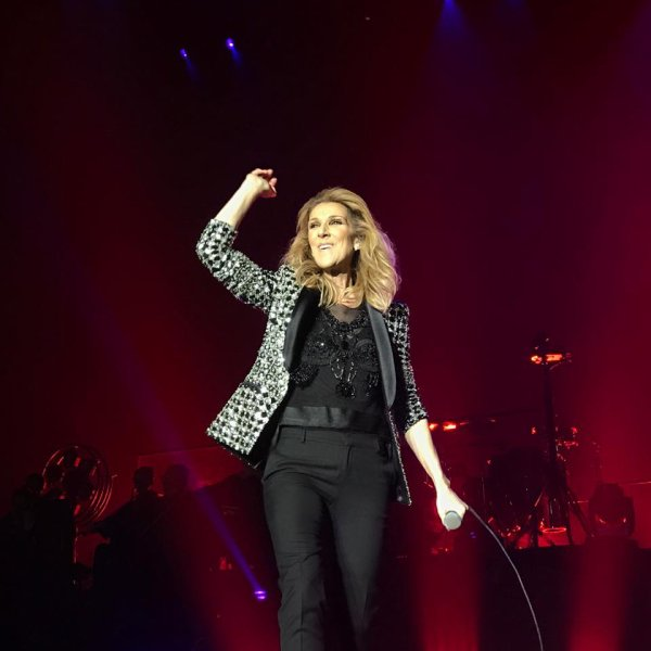 Quelques photos du concert de Céline Dion à Glasgow...