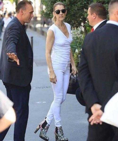 Céline Dion à Paris le 7 août 2017...