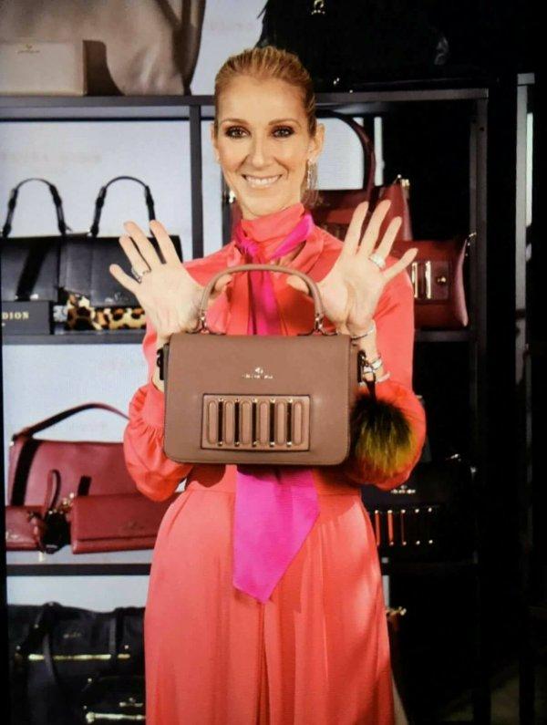 Céline Dion fabuleusement généreuse pour le lancement de sa ligne de sacs chez Browns à Montréal...