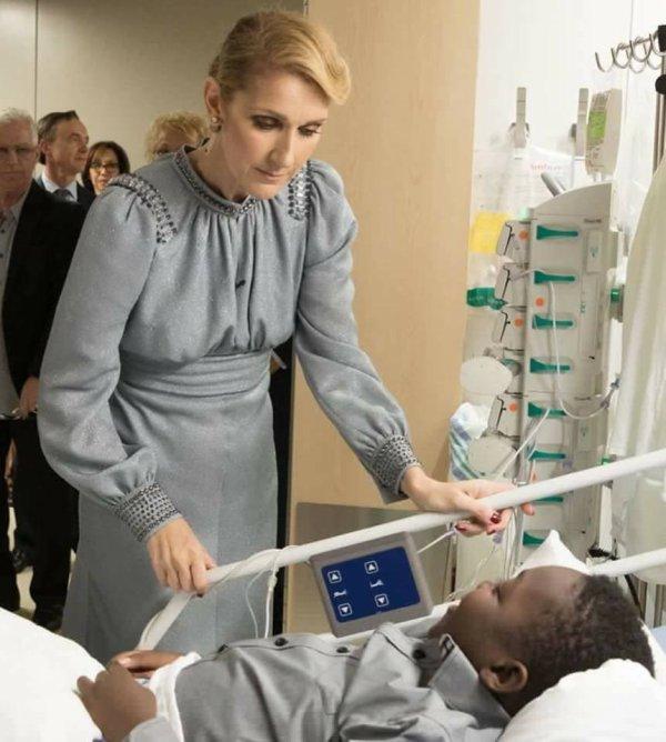 Céline Dion à l'hôpital Sainte-Justine le 24 août 2017...