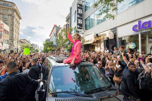Message de Céline Dion après le lancement de sa collection de sac à main à Montréal...