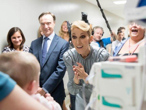 Message de Céline Dion après sa visite au CHU Sainte-Justine...