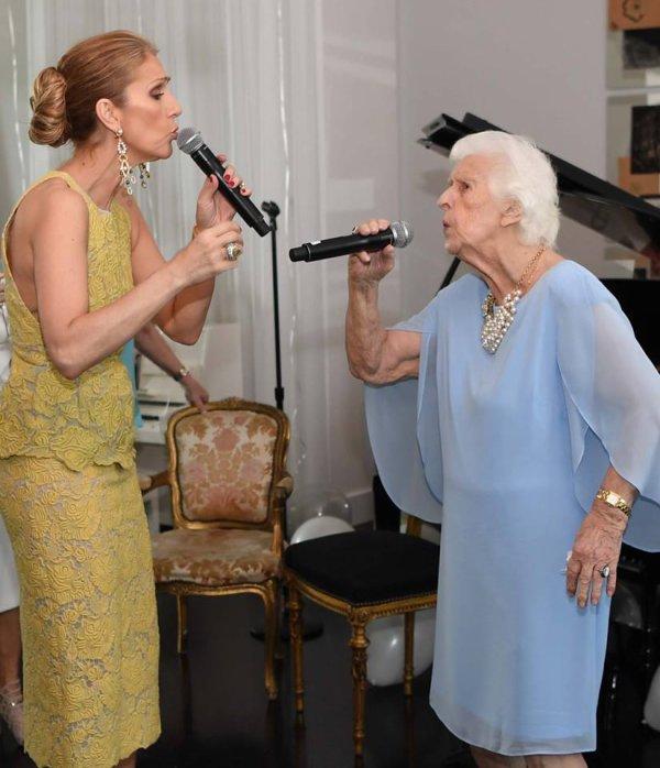 Céline Dion souhaite un joyeux anniversaire à sa maman...