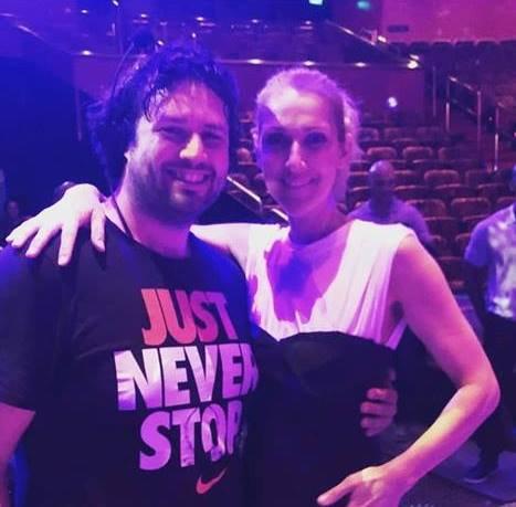 """Céline Dion a assisté au spectacle de Franco Dragone """"The House of Dancing Water""""..."""
