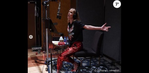 """Céline Dion : """"Emballée"""", elle change de tête alors qu'elle revient en studio..."""