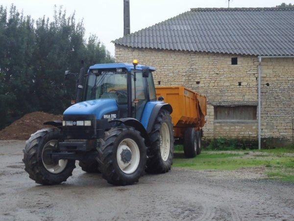 Le tracteur et la benne