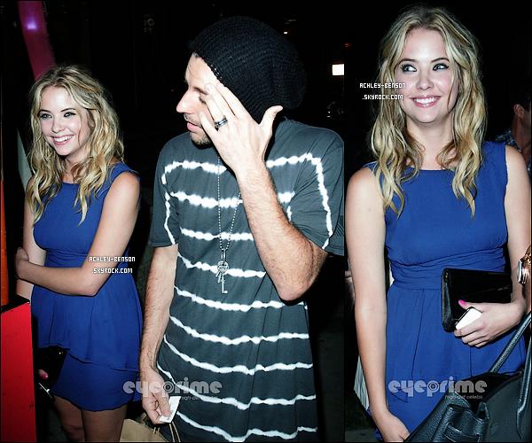 """. 10/08/11 : Ash était présente à la soirée estivale organisée par Instyle à l'hôtel London à Los Angeles. Et dans la soirée, elle c'est rendue avec son petit ami, Ryan Good dans un de ses restaurants préférés le """"BOA Steakhouse"""" ! ."""