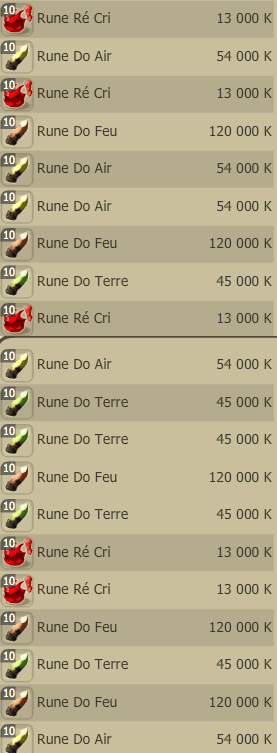 Manger des items , Chier des runes...