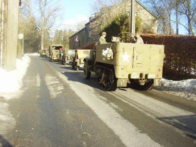 Le half-track aux marquages de la 83rd Infantry Division - Hq/ 330th Inf. Rgt ! Merci à ce groupe venus de Flandres (Malines - Anvers) pour cette journée !