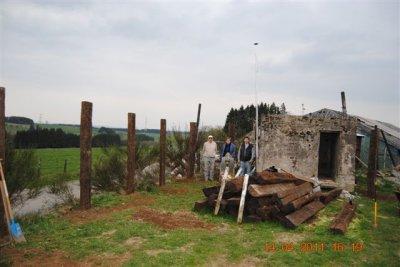 """Les travaux se poursuivent au """"jardin du souvenir"""" de Bihain"""