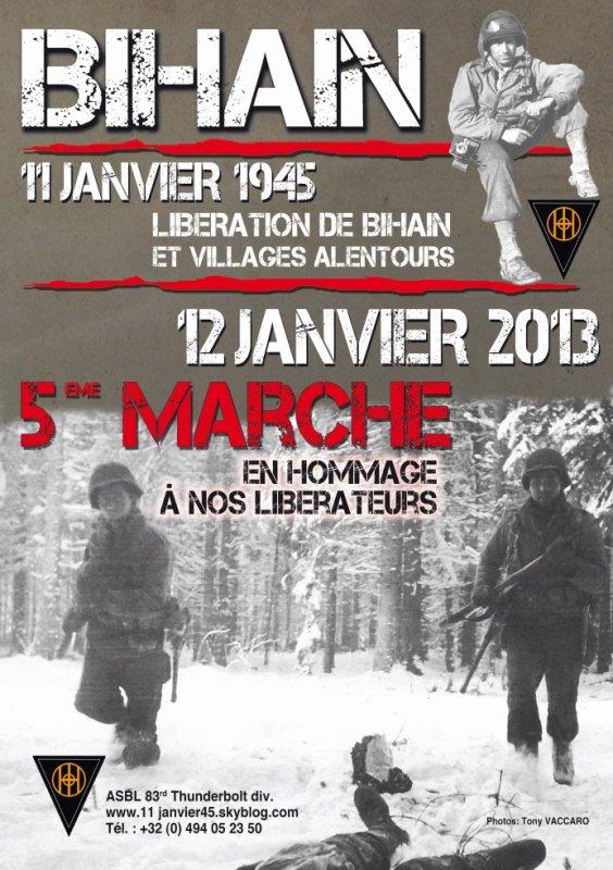 Marche commémorative Bihain 2013