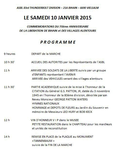 Programme marche 2015