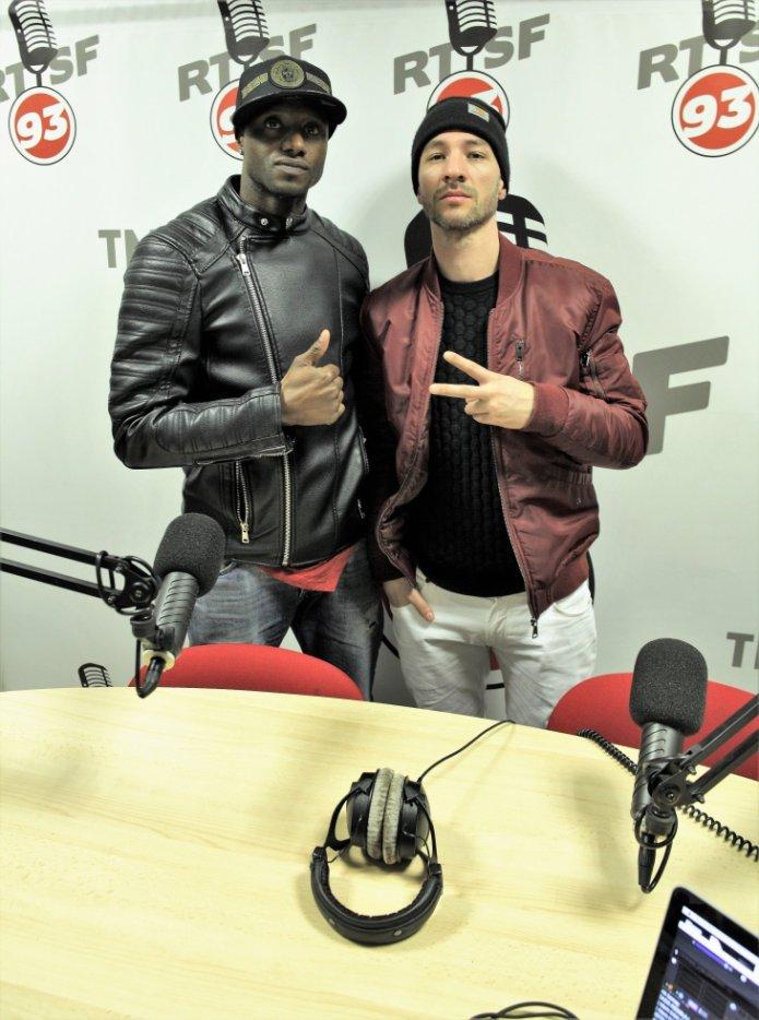 Avec DJ Stelly Ann sur Radio RTSF93