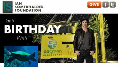 Soutenons La Ian Somerhalder Foundation (ISF) !!