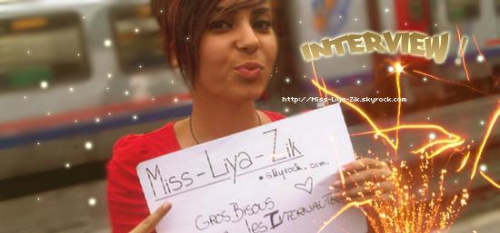 """Liya répond aux questions du skyblog !              Page """"Liya"""" sur facebook ● facebook Officiel du Skyblog"""