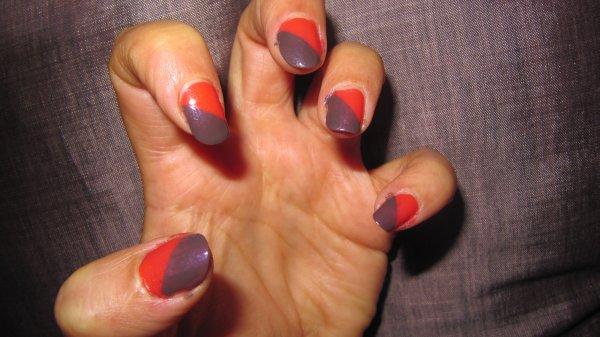 Nail-art bicolor