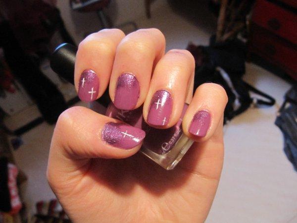 Dégradé violet pailleté