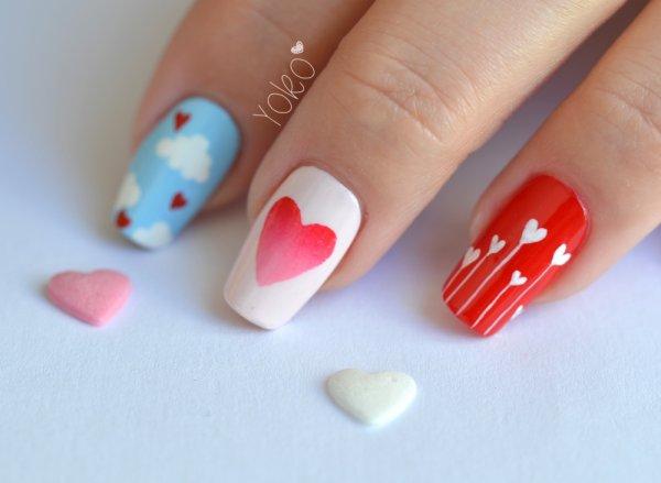 Nail-art St-Valentin