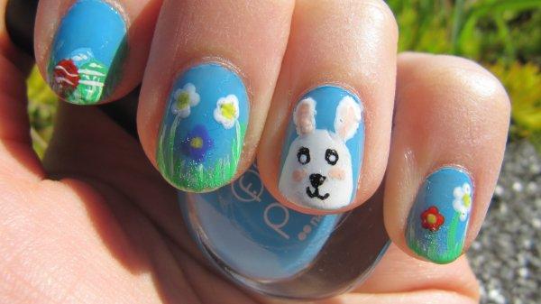 Nail-art de Pâques