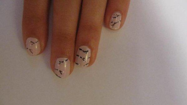 Nail-art printanier