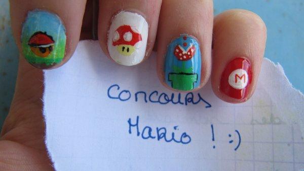 Nail-art Mario