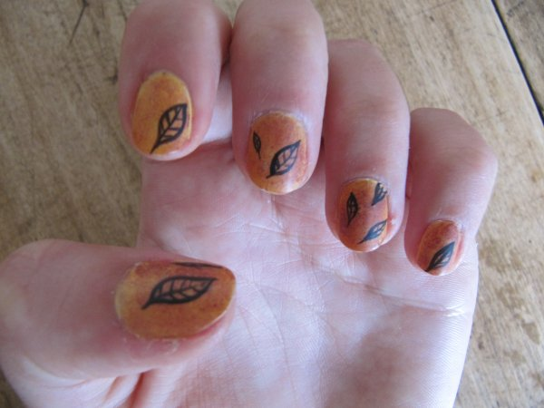 Nail-art automne