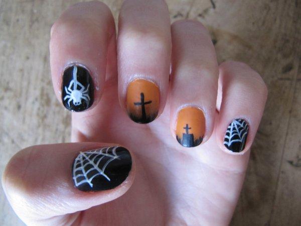 Nail-art Halloweeen 2015