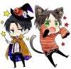 Eren et Rivaille vous souhaient un bon halloween ♥