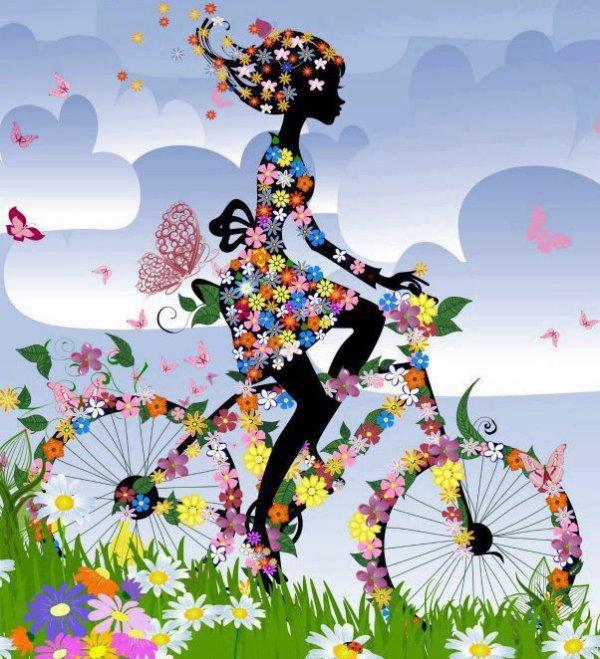 Le printemps est là,  Il nous tend les bras,  la végétation s'éveille,  Après un long sommeil.