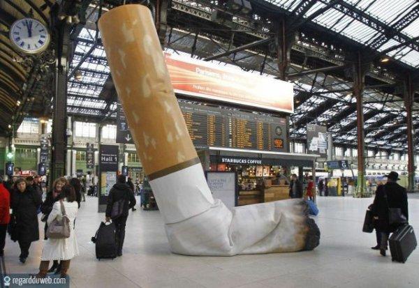 Après le travail, les cheminots arrêtent aussi de fumer...