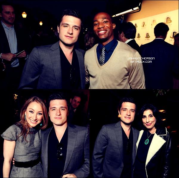 . Hier, jeudi 19 avril 2012, Mr. Hutcherson a été aperçu à une fête avec des amis à Los Angeles. .