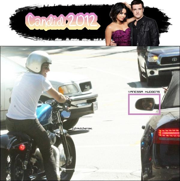. Mercredi 18 juillet, Josh, toujours sur sa moto, a été photographié alors qu'il était à l'arrêt d'un carrefour et papotant avec Vanessa Hudgens qui était dans la voiture la coté de lui..