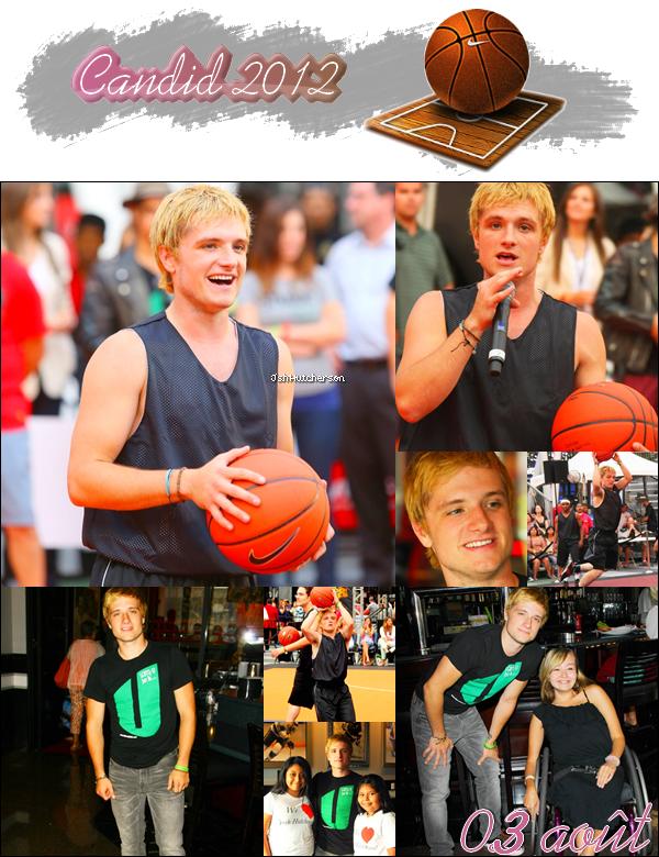 """. En ce vendredi 03 août, un Josh tout blond a participé à un match de charité pour l'association """"Straight But Not Narrow"""" (une association qui -je le rappelle- tient beaucoup à coeur Josh) ."""