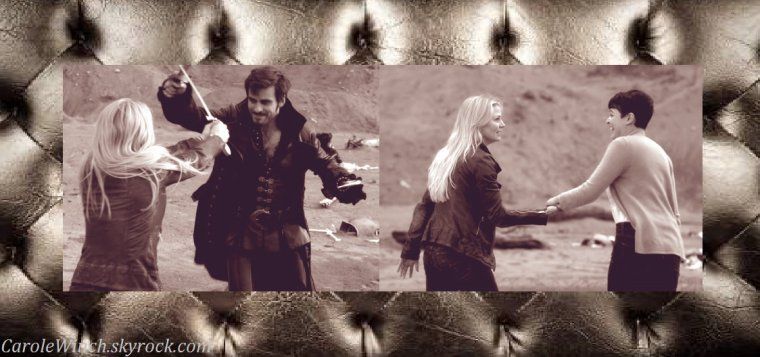 "Divers montages de moi sur la série "" Once Upon a Time "" ."