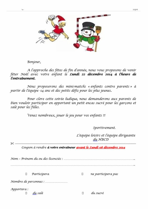 Noël du Handball Club Digoin