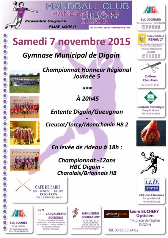 Rencontres du week-end du 7-8 novembre 2015